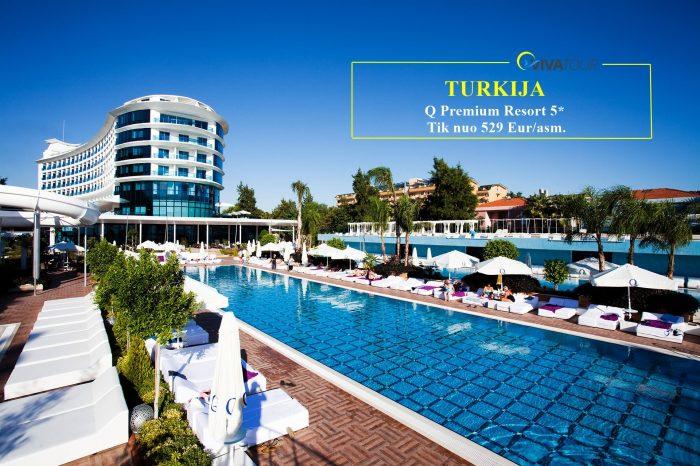TURKIJA 💯7 n. Q Premium Resort⭐⭐⭐⭐⭐viešbutyje su#ultraviskasįskaičiuotamaitinimo sistema tik nuo529Eur/asm.✨