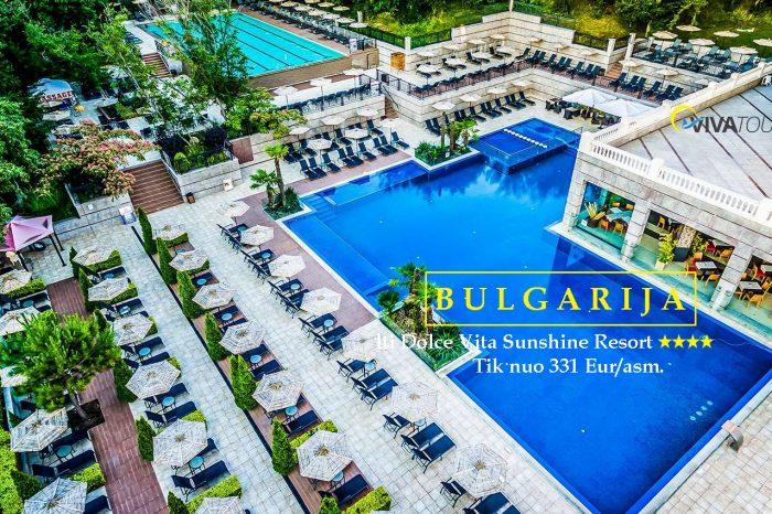 BULGARIJA 💯7 n. lti Dolce Vita Sunshine Resort⭐⭐⭐⭐viešbutyje su#viskasįskaičiuotamaitinimo sistema tik nuo331Eur/asm.👍