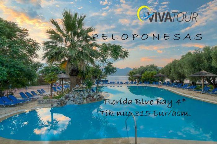 ŽavusisPeloponesaskviečia atostogauti7 n. Florida Blue Bay⭐⭐⭐⭐viešbutyje be maitinimo tik nuo 315 Eur/asm.