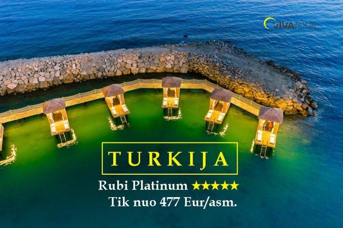 TURKIJA 💎7 n. Rubi Platinum⭐⭐⭐⭐⭐viešbutyje su#ultraviskasįskaičiuotamaitinimo sistema tik nuo477Eur/asm.🥰