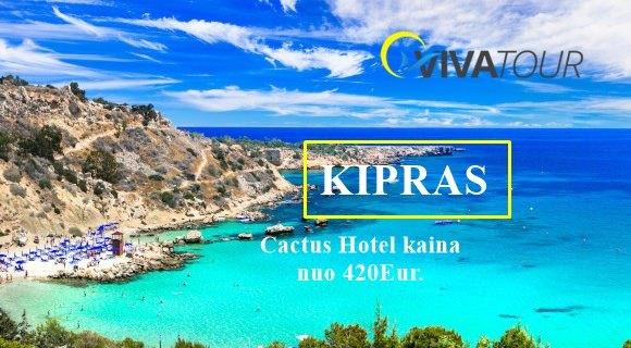 Paskubėk! Kaina atostogoms Kipre Tik nuo 420 EUR supusryčiaisviešbutyje CACTUS HOTEL 2*
