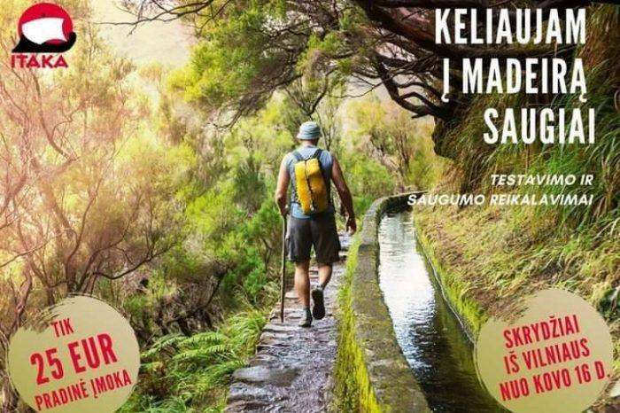 MADEIRA – nuostabaus grožio sala, laukia mūsųJau nuo kovo mėnesioAvansas vos 25 eur/asm