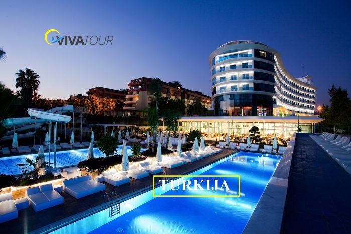 7 n. puikiame Turkijos Q Premium Resort  viešbutyje su #viskasįskaičiuota  TIK nuo 389 Eur/asm.