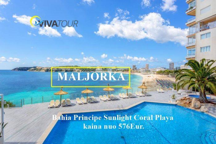 Maljorka– gražiausi salos paplūdimiai ir įlankos 7n. Bahia Principe Sunlight Coral Playa⭐⭐⭐viešbutyje su#viskasįskaičiuotatik nuo 576 Eur/asm.Skrendam✈️rugsėjo 12 d.